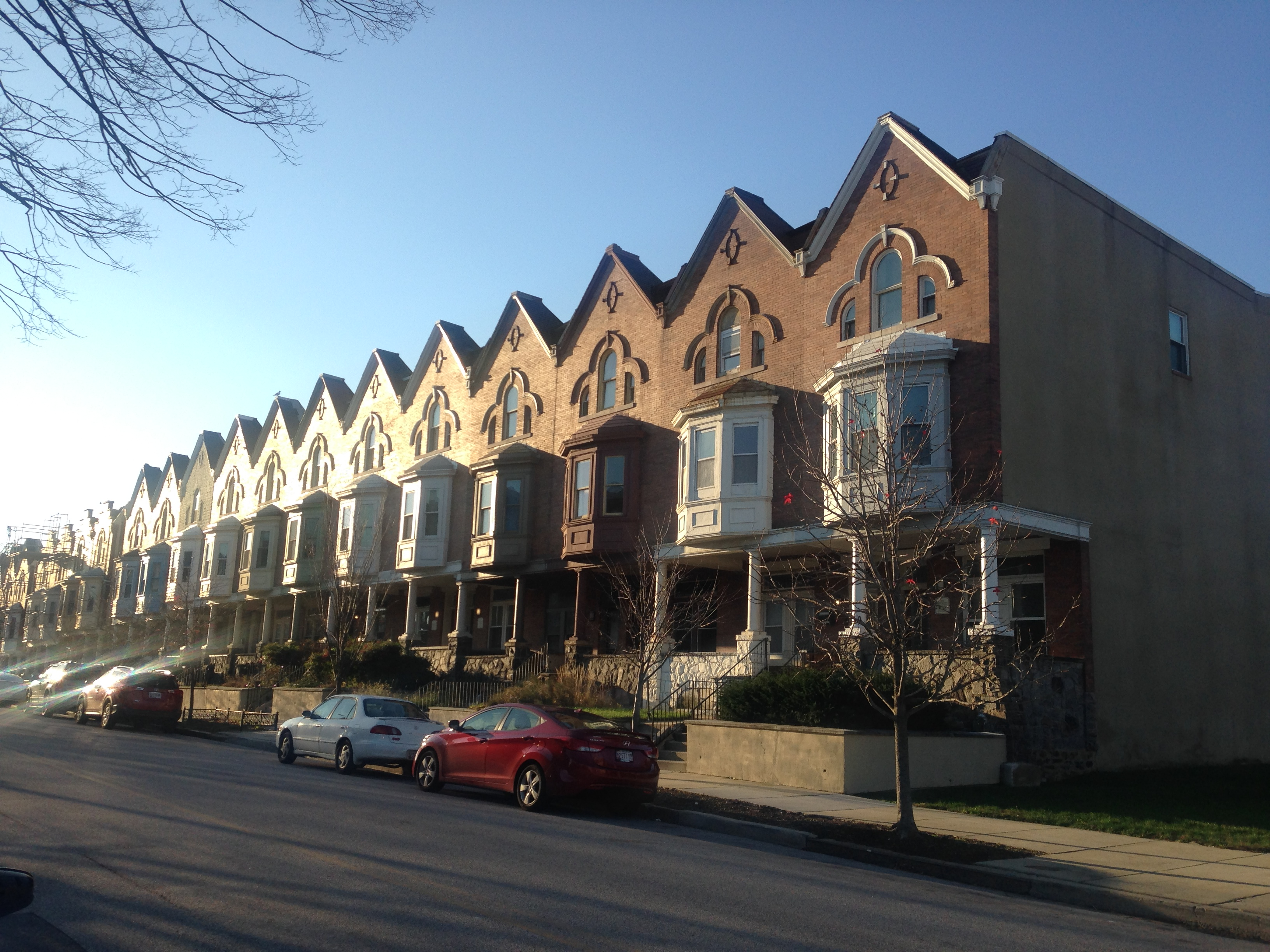 Image of rowhomes in Charles Village