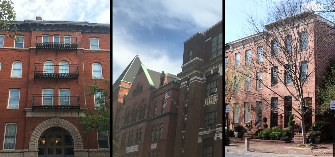 Image of three historic buildings in Baltimore